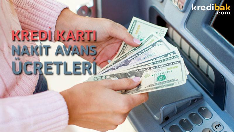 kredi kartı nakit avans ücretleri